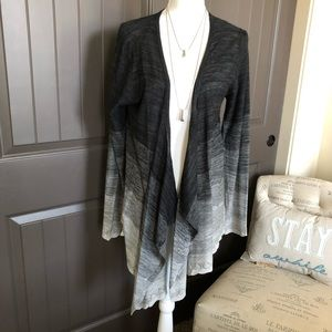Knox Rose Ombré Black and Gray Cardigan